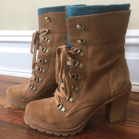 a75403633c7 Ugg Sherpa Lace Up Boots